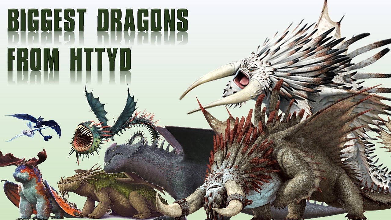 Download 10 Biggest Dragons Species from HTTYD (How To Train Your Dragon)