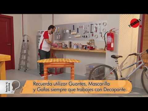 C mo decapar un mueble titanlux tv youtube - Como decapar un mueble ...
