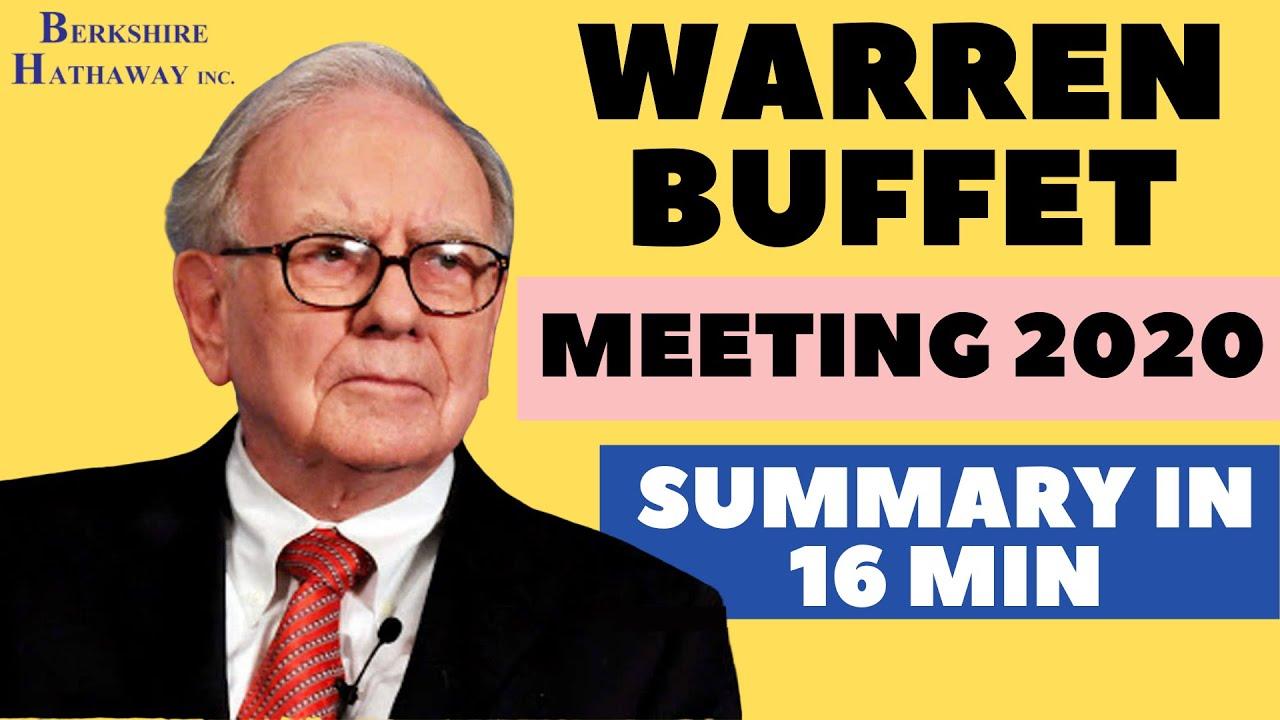 Warren Buffett 2020 Meeting Summary in 16 minutes   Berkshire Hathway Meeting 2020   Neeraj Arora