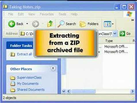 Zip and Unzip files in Windows XP - YouTube