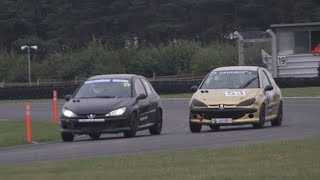 Williamson Racing 206 GTi cup Snetterton 2018 highlights