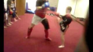 Bboy Luke hughes vs man of steel muay thai style