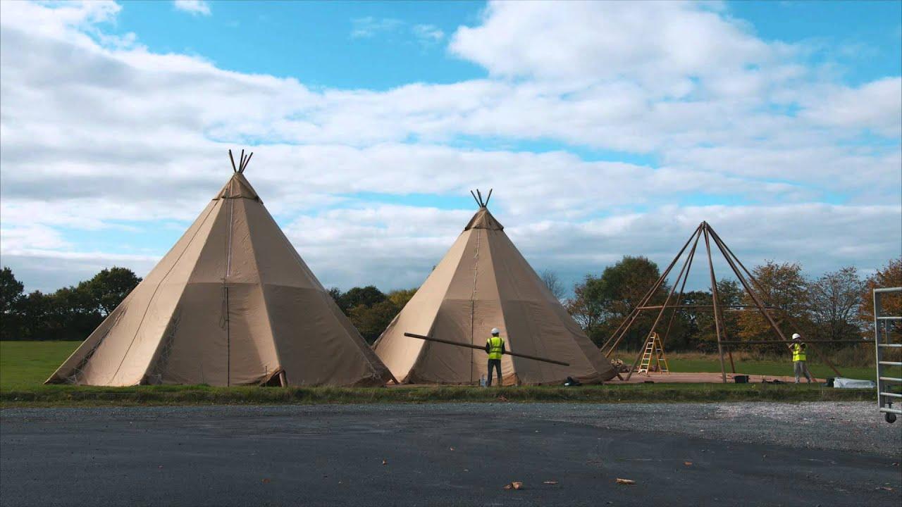 Teepee Tent Hire Installation & Teepee Tent Hire Installation - YouTube