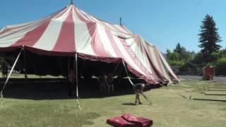 Circus tent build