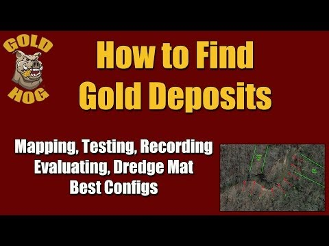 Finding Gold Deposits - Mapping Testing Dredge Set Up