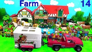 Schleich Farm Animal Toys For Kids - Learn Animal Names and Sounds - Learn Colors with Animals 14