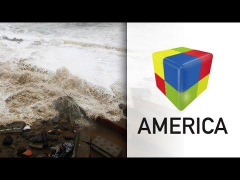 Chile: Seis muertos y olas de 10 metros