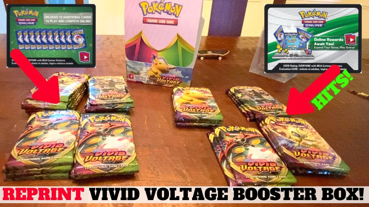 Opening A REPRINT Pokemon Vivid Voltage Booster Box: Worth Buying?