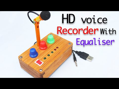 HD Voice Recorder Microphone With Equaliser and DB meter, for youtube creator ??