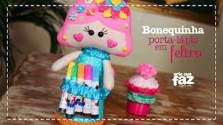 Bonequinha Porta-Lápis (Alessandra Mattos)
