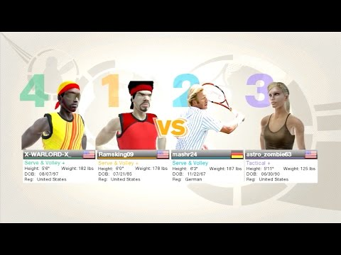 Virtua Tennis 2009 Online Doubles Live Play Amazing Match!!
