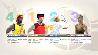 Virtua Tennis 2009 Online Doubles Live Play Amazing Match!!