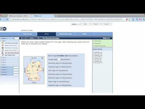 Deutsche Welle Online German Learning Program Tutorial - Deutsch lernen