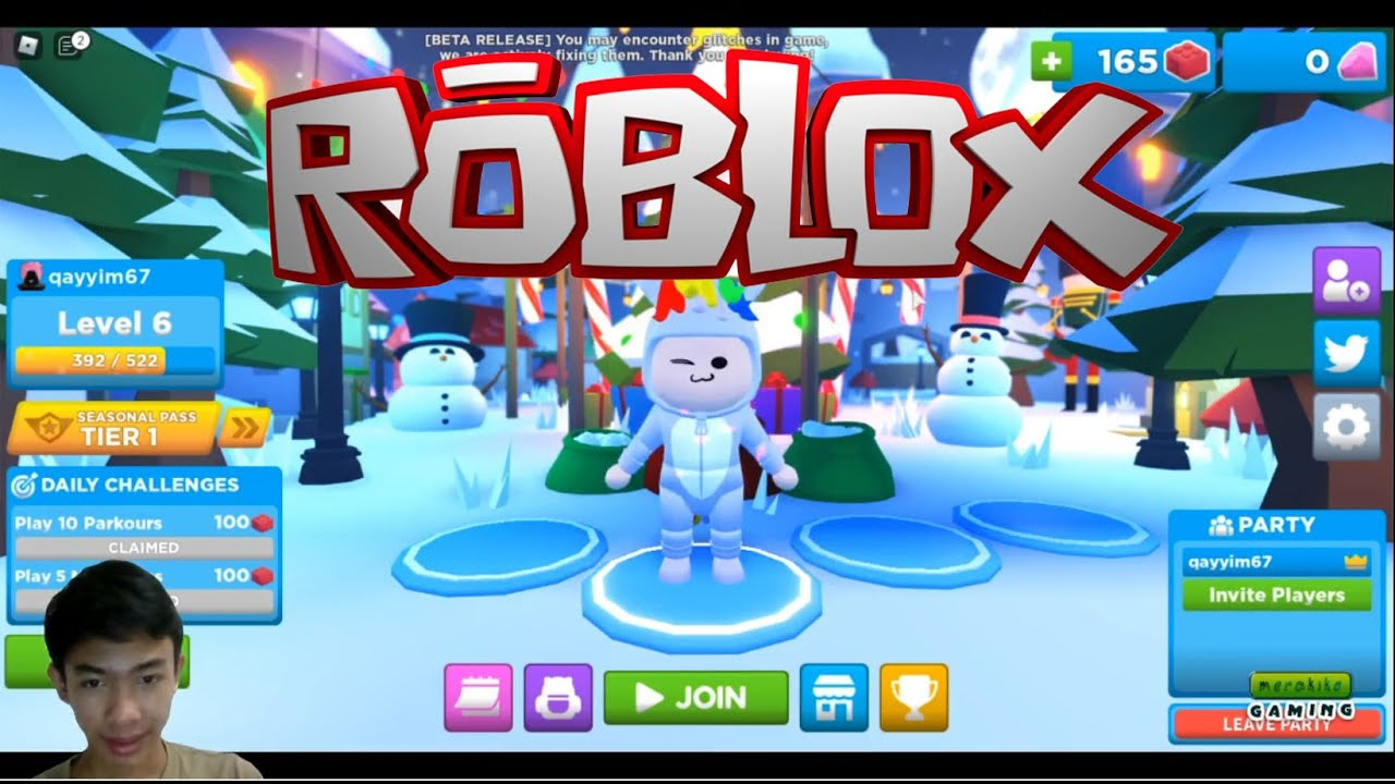 Playing DROP BLOX (ROBLOX) With my friend in discord