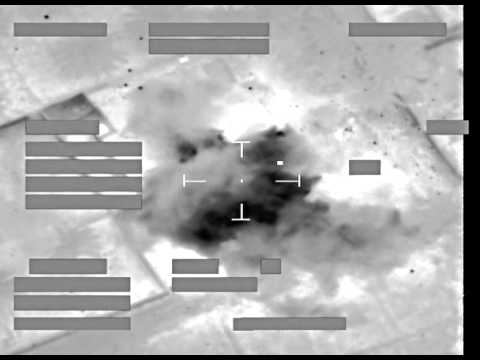Daesh Maskingeværsskytte I Irak Ramt Af 2 X Brimstone Gennem Et Vindue