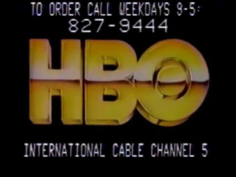 80's Ads: HBO International Cable Channel 5 1985