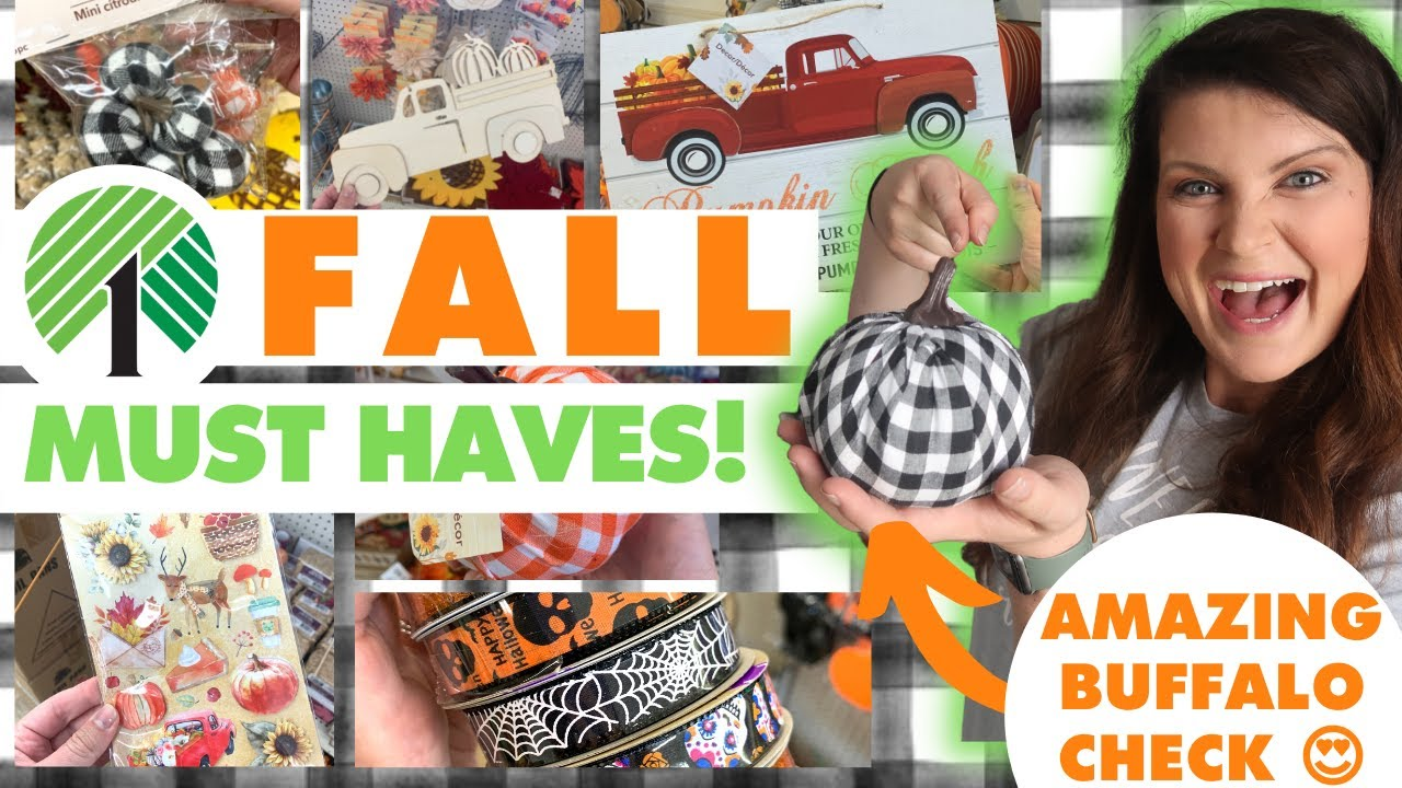The BEST items you NEED for 2021 Fall Dollar Tree DIYs! 🍁 Dollar Tree Haul Fall Crafting Must Haves