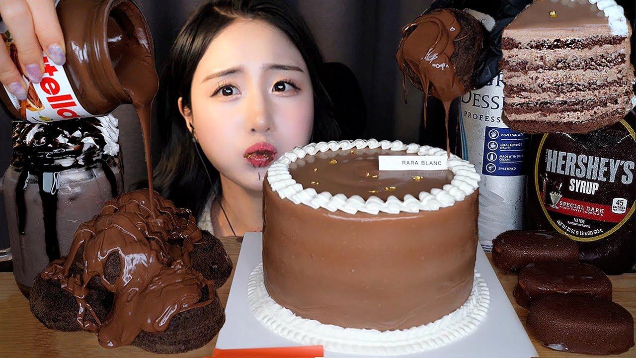 이세상 달콤함 다 모아왔다🍫 누텔라 헤이즐넛 초코 케이크 먹방 ASMR Mukbang Dessertㅣ허쉬 초콜릿 티코 아이스크림