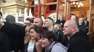 Kylie Minogue shows up at her Kylie Christmas Pop Up Store at 9.12.2016