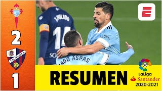Celta de Vigo 2-1 Huesca. Goles Nolito y Aspas. Chacho Coudet ha ganado 6 de los últimos 7 | LaLiga