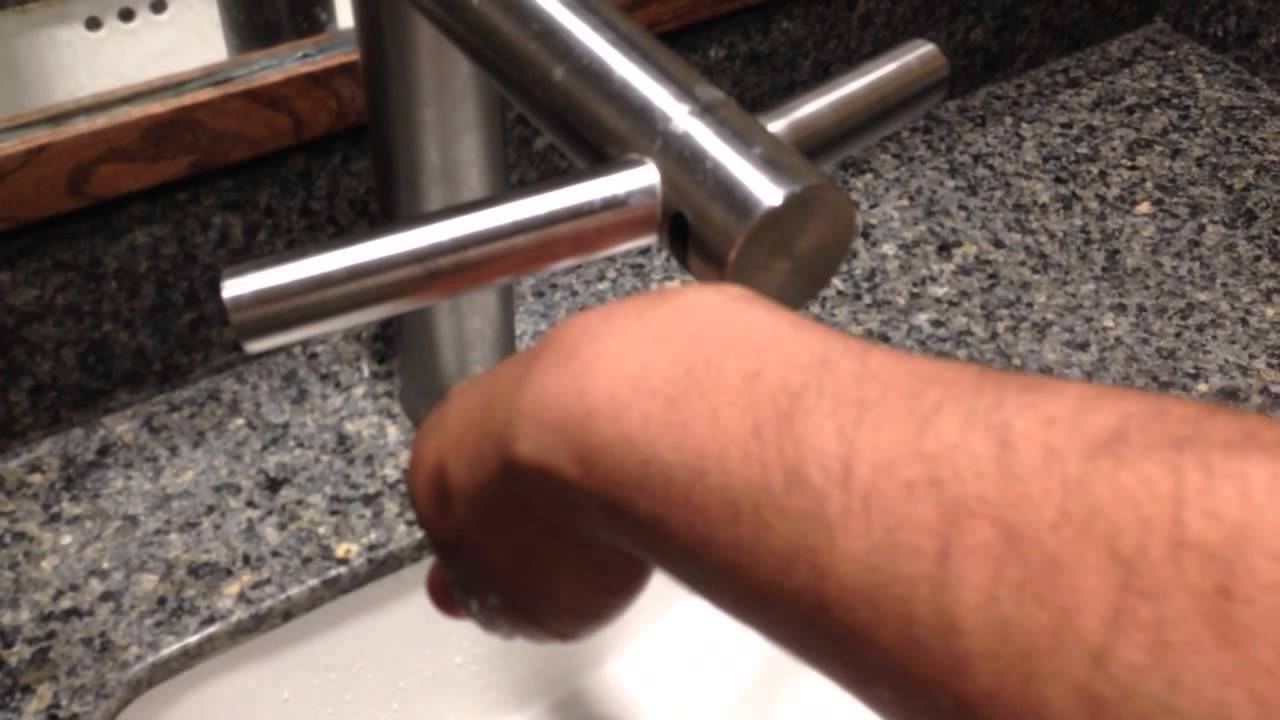 Dyson Combined faucet and hand dryer - YouTube
