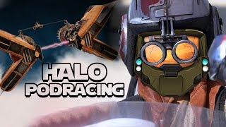 Halo 5 PODRACING! - Custom Forge Map Gameplay