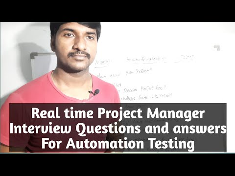 Project Manger Interview Questions and answer for Automation Testing
