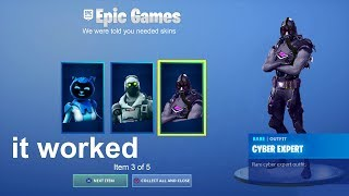 So this HACKER gave me FREE SKINS in Fortnite...