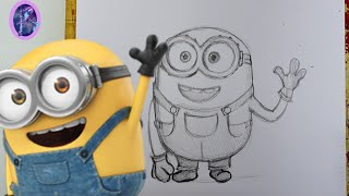 How to Draw BOB THE MINION (a Minions Movie tutorial) - @dramaticparrot