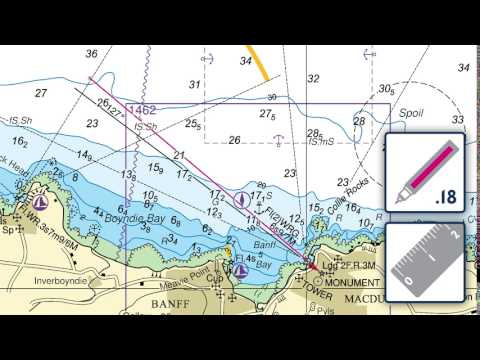 Inserting and deleting a leading line on an ADMIRALTY Standard Nautical Chart