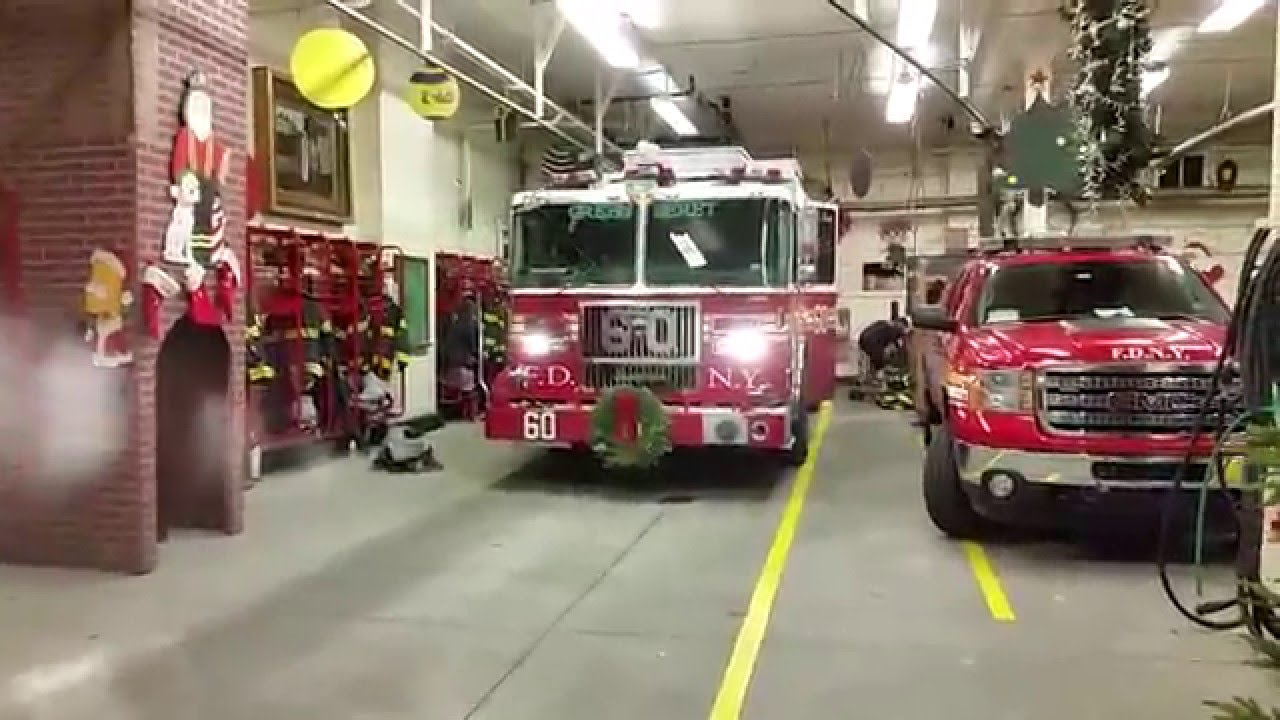 fdny engine 60 and battalion 14 go on a run