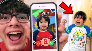 DO NOT FACETIME RYAN'S WORLD!! *OMG HE CAME TO MY HOUSE*