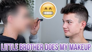 LITTLE BROTHER DOES MY MAKEUP! thumbnail