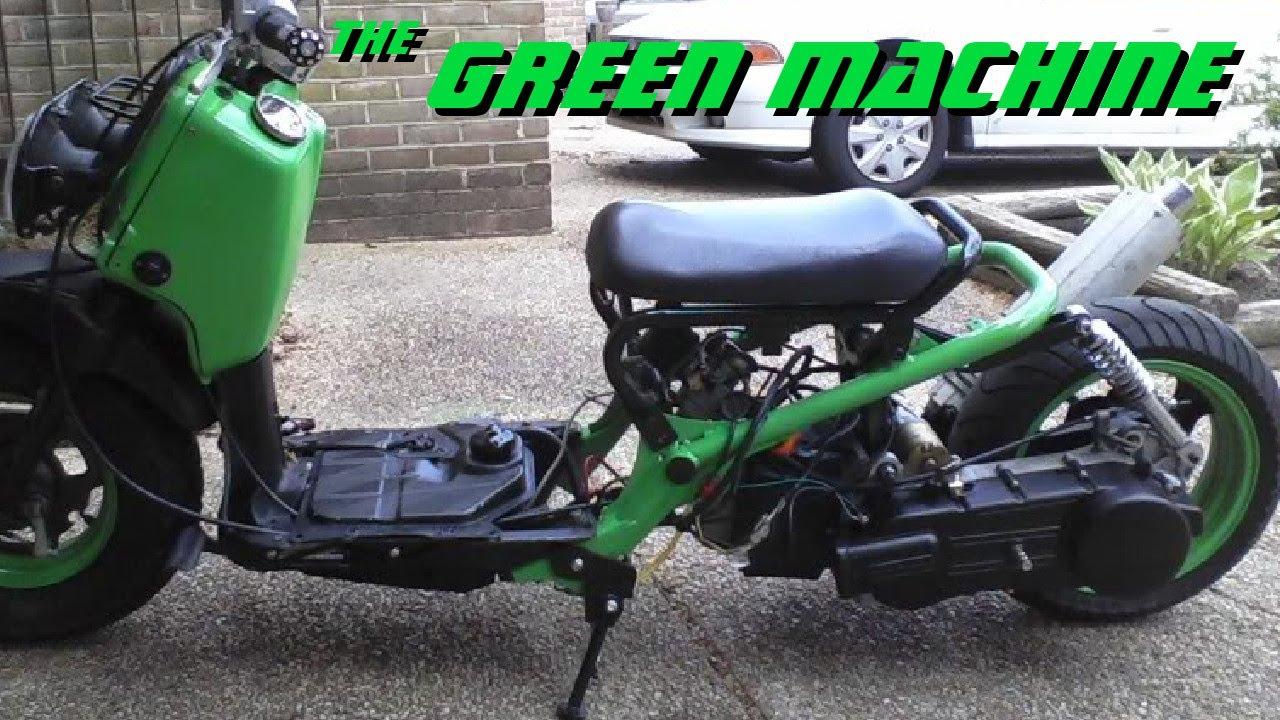 Green Machine Honda Ruckus With 150cc Gy6 Swap Youtube