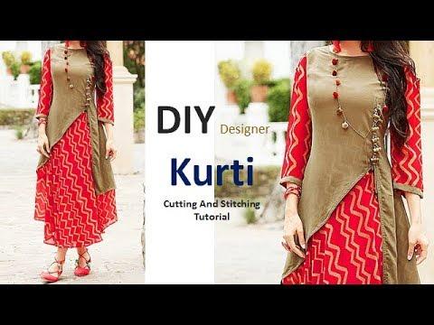 DIY Designer Kurti Cutting And Stitching Full Tutorial