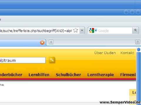 Firefox 3.5: Duden Schnellsuche