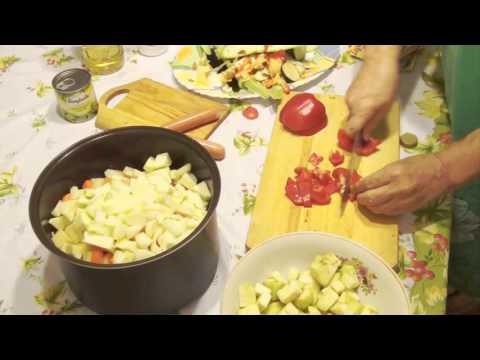 Рецепт рагу овощное с баклажанами и картофелем в мультиварке
