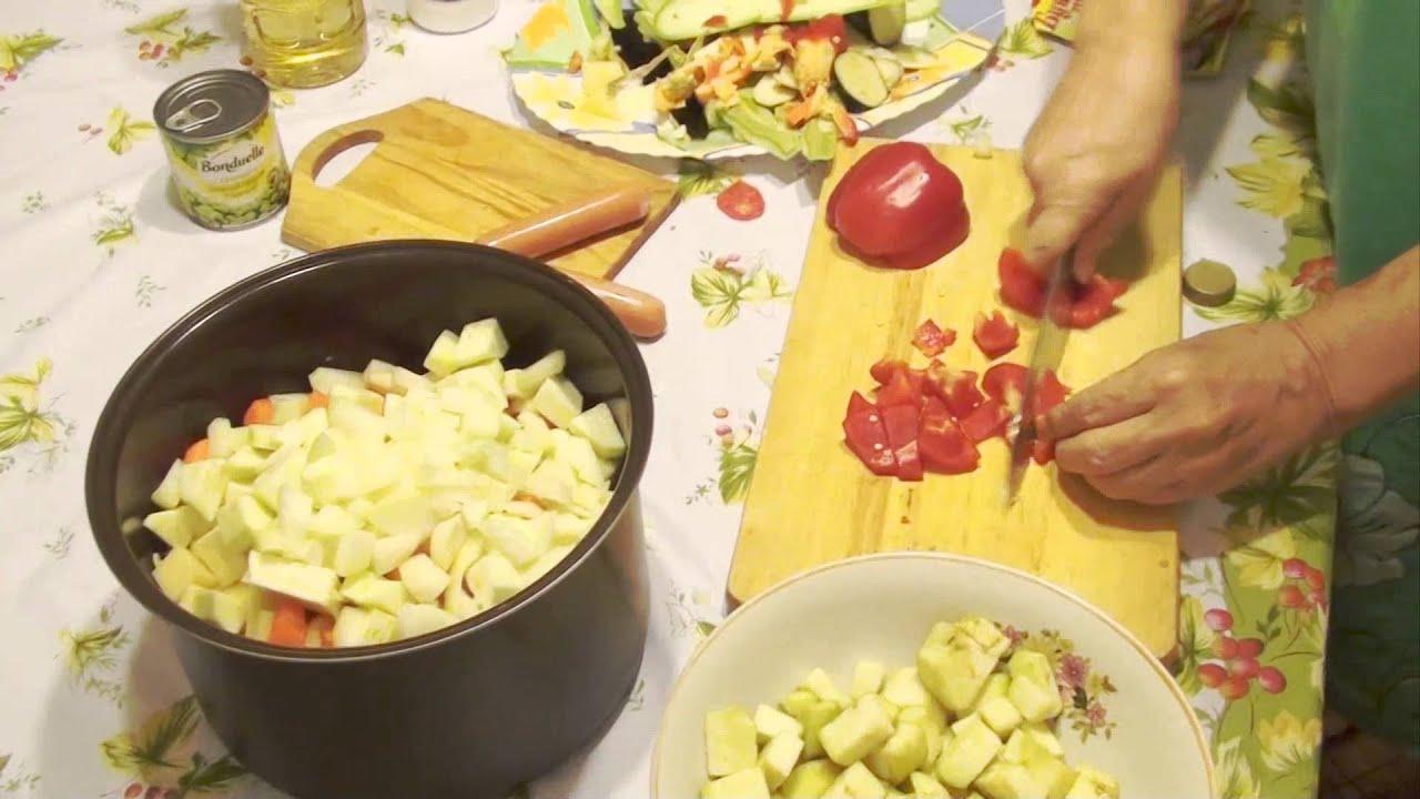 овощное рагу с рецепт с фото в мультиварке
