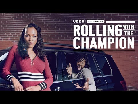 Cari Champion With DeAndre Jordan  ROLLING WITH THE CHAMPION