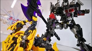 Transformers Movie Masterpiece Autobot BUMBLEBEE vs Nemesis Prime. Review Bumblebee MPM3 Stop Motion