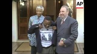 Castro meets Mandela + Cuba and ANC solidarity rally