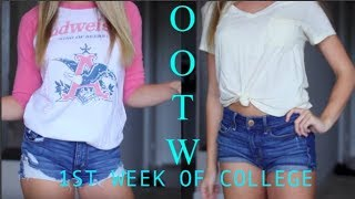 FIRST WEEK BACK TO COLLEGE OUTFITS OF THE WEEK! 2018