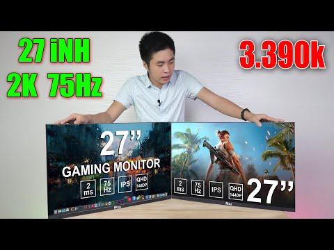 Trên tay bộ màn hình GAMING 27 inch 2K 75Hz Siêu Đẹp giá rẻ