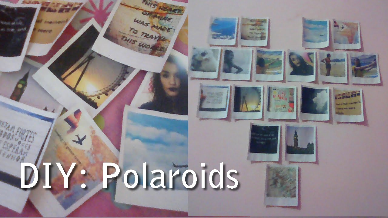 Diy fotos polaroid mural em forma de cora o tumblr - Mural de fotos ...