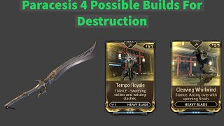 Warframe Guide Paracesis Builds For High Levels Timestamps Available For All Builds While still a youth paracelsus became aware of many of the conflicting currents of his age. warframe guide paracesis builds for high levels timestamps available for all builds