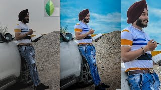 #editing FACE smooth Background sky blue eyes and RETOUCH TUTORIAL SNAPSEED LIGHTROOM