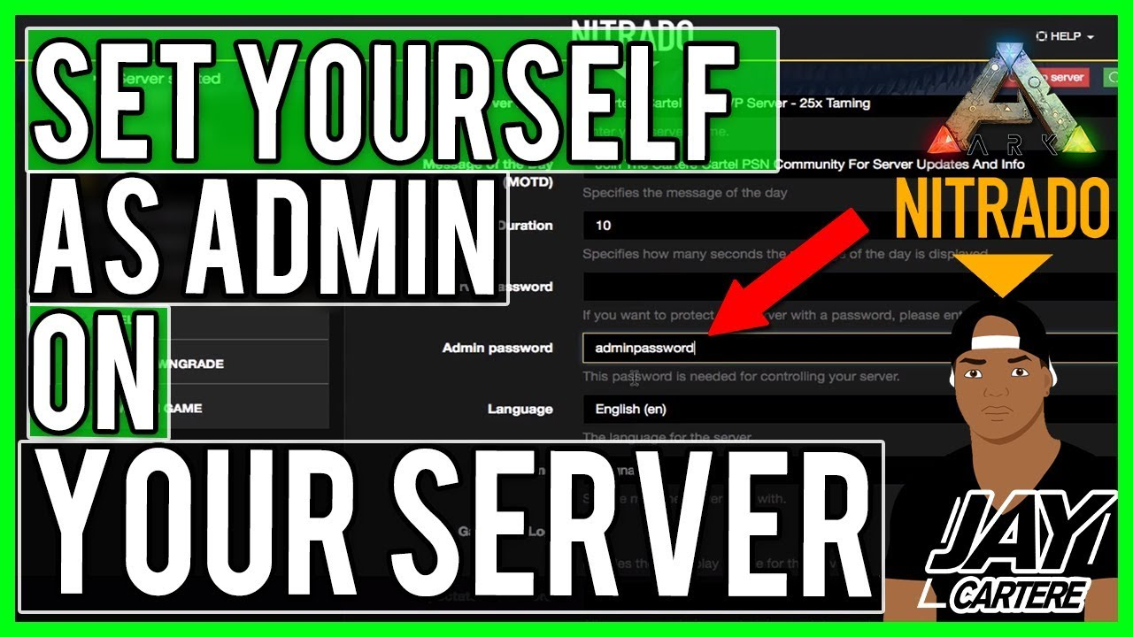 Ark Survival Evolved PS4 Tutorial - How To Set Yourself As