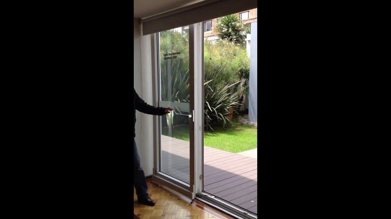 Video puerta oscilo paralela corredera sistema europeo grupo eurosystem youtube - Puerta terraza ...