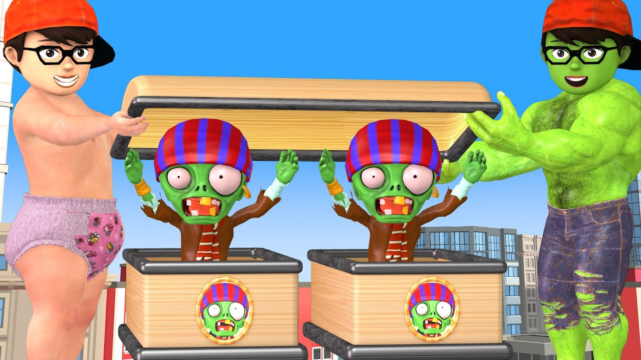 Scary teacher 3D NickHulk Baby and Nickjoker Help Miss T vs Zombie Funny Coffin Animation