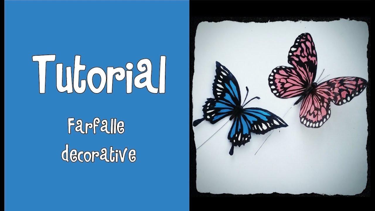 Tutorial farfalle decorative effetto realistico for Farfalle decorative per muri